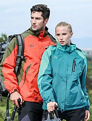 cheap -Men's Hiking 3-in-1 Jackets Outdoor Autumn / Fall Spring Waterproof Windproof UV Resistant Breathable 3-in-1 Jacket Winter Jacket Single Slider Ski / Snowboard Hiking Climbing Army Green / Red / Blue