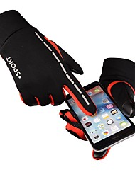 cheap -Winter Bike Gloves / Cycling Gloves Mountain Bike Gloves Mountain Bike MTB Touch Screen Windproof Padded Anti-Slip Full Finger Gloves Sports Gloves Silicone Gel Terry Cloth Black Grey Orange for