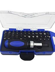 Недорогие -38 комплектов храповой отвертки набор инструмент механик ремонт авто ремонт домашняя многофункциональная отвертка комплект
