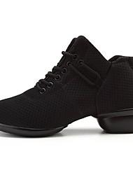 cheap -Women's Dance Shoes Mesh Dance Sneakers Sneaker Flat Heel Customizable Black / Performance / Practice