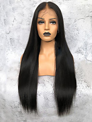 cheap -Virgin Human Hair 360 Frontal Wig Deep Parting Kardashian style Brazilian Hair Yaki Straight Natural Wig 150% Density Women's Long Human Hair Lace Wig Premierwigs