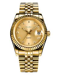 cheap -Men's Wrist Watch Quartz Elegant Calendar / date / day Analog Gold / Silver / White Gold Silver / Imitation Diamond