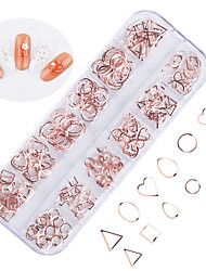 cheap -1 pcs Ergonomic Design / Classic / Best Quality Rose Gold Nail Jewelry For Finger Nail Creative Wedding nail art Manicure Pedicure Party / Evening / Daily / Engagement Party Artistic / Aristocrat