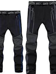 cheap -Men's Hiking Pants Softshell Pants Winter Outdoor Waterproof Windproof Fleece Lining Breathable Softshell Pants / Trousers Skiing Ski / Snowboard Hiking Grey Dark Navy S M L XL XXL / Micro-elastic