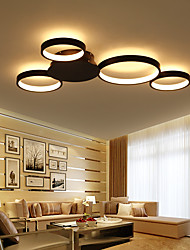cheap -80 cm 4-Light Geometric Circular Novelty Flush Mount Ambient Light Painted Finishes Aluminum Aluminum Matte Dimmable 110-120V 220-240V Warm White Cold White Dimmable With Remote C