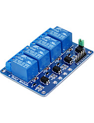 cheap -Four way relay -5V blue