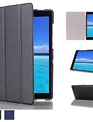 abordables -Coque Pour Lenovo ASUS Zenpad S 8.0 Z580CA / ASUS ZenPad 8.0 Z380M / ASUS Zenpad 8.0 Z380KL / KNL Avec Support / Clapet / Origami Coque Intégrale Couleur Pleine Dur PC