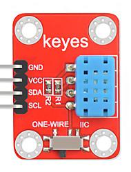 Недорогие -Цифровой датчик температуры и влажности модуля keyes dht12, совместимый с dht11, для защиты окружающей среды Arduino