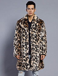 cheap -Long Sleeve Coats / Jackets Faux Fur Wedding / Party / Evening Men's Wraps With Leopard Print