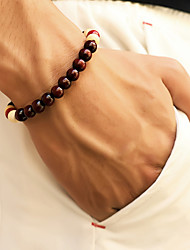 cheap -Men's Bead Bracelet Beads Cheap Simple Casual / Sporty Wooden Bracelet Jewelry Black / Red / Brown For Street Daily Going out