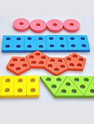 Недорогие -Взаимосоединяющиеся блоки Игрушка Сортировщика Формы Геометрический узор Cool утонченный 1 pcs Детские Все Мальчики Девочки Игрушки Подарок