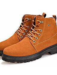 cheap -Men's Combat Boots PU Fall Boots Black / Yellow / Gray