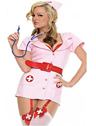 cheap -Uniforms Nurse Cosplay Costume Party Costume Costume Fancy Costume Adults Highschool Women's Cosplay Halloween Halloween Carnival Masquerade Festival / Holiday Spandex Polyester Pink Carnival Costumes