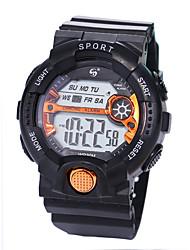 Недорогие -Муж. Спортивные часы электронные часы Цифровой силиконовый Черный 30 m Защита от влаги ЖК экран Фосфоресцирующий Цифровой Роскошь Мода - Зеленый Синий Розовое золото