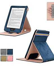 cheap -Case For KOBO kobo clara HD with Stand / Flip Full Body Cases Solid Colored Hard Textile