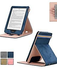 abordables -Coque Pour KOBO kobo clara HD Avec Support / Clapet Coque Intégrale Couleur Pleine Dur Textile