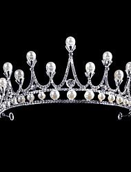 cheap -Alloy Tiaras with Rhinestone / Pearl 1 Piece Wedding / Party / Evening Headpiece