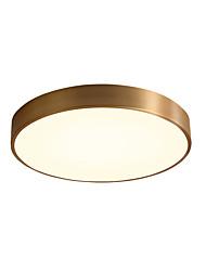 cheap -1-Light 30 cm Tri-color Flush Mount Lights Metal Circle Antique Brass Contemporary / LED 220-240V