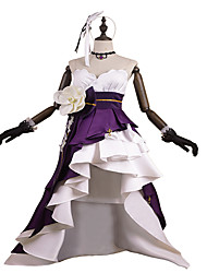 cheap -Inspired by Pretty Cure Princess Anime Cosplay Costumes Cosplay Suits / Dresses Fashion Sleeveless Gloves / Belt / Hair Band For Women's Halloween Costumes