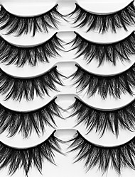 cheap -Eyelash Extensions 10 pcs Multi-functional Pro Natural Curly Fiber Practice Thick - Makeup Daily Makeup Halloween Makeup Party Makeup High Quality Cosmetic Grooming Supplies
