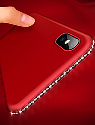 cheap -Phone Case For Apple Back Cover iPhone XR iPhone XS iPhone XS Max iPhone X iPhone 8 Plus iPhone 8 iPhone 7 Plus iPhone 7 iPhone 6s Plus iPhone 6s Rhinestone Ultra-thin Frosted Glitter Shine Rhinestone