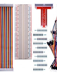 cheap -For Raspberry Pi 3 Kit with 830 tie-points Breadboard and 40 Pin Rainbow Cable