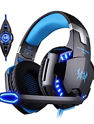 cheap -Kotion EACH G2200 Computer Stereo Gaming Headphones Best Casque Deep Bass Gaming Earphone Headset with Microphone Volume Control LED Light for PC Gamer