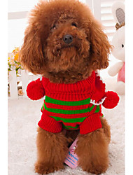 cheap -Dogs Cats Sweater Winter Dog Clothes Stripe Costume Acrylic Fibers Color Block Stripes Keep Warm Fashion S M L
