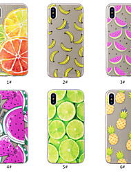 cheap -Case For Apple iPhone XS / iPhone XR / iPhone XS Max Pattern Back Cover Food / Fruit Soft TPU