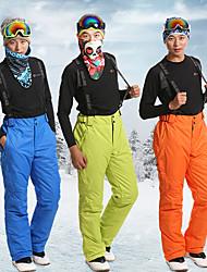 cheap -Men's Ski / Snow Pants Skiing Camping / Hiking Snowboarding Thermal / Warm Waterproof Windproof 100% Polyester Space Cotton Bib Pants Ski Wear / Winter