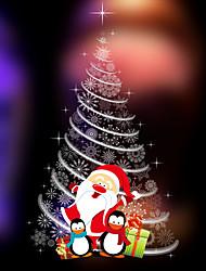 cheap -Christmas Tree Snowflake Window Film & Stickers Decoration Cartoon / Christmas Geometric / Flower / Floral / Holiday PVC(PolyVinyl Chloride) Window Sticker / Door Sticker / Adorable