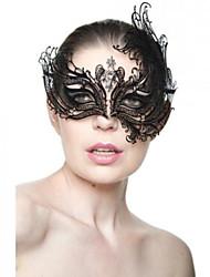 abordables -Masque vénitien Masque de mascarade Masque de carnaval Inspiré par Princesse vénitien Noir Doré Halloween Noël Halloween Mascarade Adulte Femme
