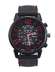 cheap -Men's Sport Watch Quartz Silicone Black Casual Watch Analog Fashion - Red Green Blue