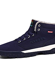 cheap -Men's Comfort Shoes Suede Winter Casual Boots Walking Shoes Warm Black / Green / Blue