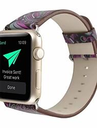 Недорогие -Настоящая кожа / Поли уретан Ремешок для часов Ремень для Apple Watch Series 4/3/2/1 Фиолетовый 23см / 9 дюйма 2.1cm / 0.83 дюймы
