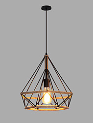 cheap -Lantern Hemp Rope Pendant Light Ambient Light Painted Finishes Metal 110-120V / 220-240V Bulb Not Included / SAA