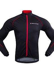 cheap -Realtoo Men's Cycling Jacket Bike Winter Fleece Jacket Sports Winter Black / Red Mountain Bike MTB Road Bike Cycling Clothing Apparel Bike Wear / Micro-elastic