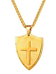 cheap -Men's Pendant Necklace Classic Cross Classic Vintage Stainless Steel Black Gold Silver 55 cm Necklace Jewelry 1pc For Gift Daily