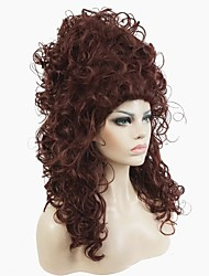 cheap -Synthetic Wig Curly Curly Wig Long Dark Auburn Synthetic Hair Women's Red StrongBeauty
