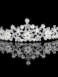 cheap -Alloy Tiaras with Rhinestone / Pearl 1 Piece Wedding Headpiece