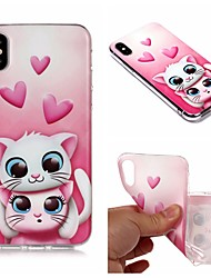 cheap -Case For Apple iPhone XS / iPhone XR / iPhone XS Max IMD / Translucent Back Cover Cat Soft TPU