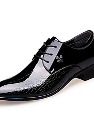 cheap -Men's Formal Shoes Leather Fall & Winter Business / British Oxfords Wear Proof Black / Wedding / Party & Evening / Party & Evening / Leather Shoes / Dress Shoes