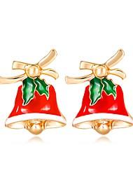 Недорогие -Жен. Серьги-гвоздики 3D Дамы Классика Мода Стразы Серьги Бижутерия Цвет радуги Назначение Рождество Новый год 1 пара