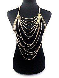 cheap -Women's Body Jewelry 77 cm Body Chain Gold Ladies / Tropical / Oversized Alloy Costume Jewelry For Club / Bikini Summer