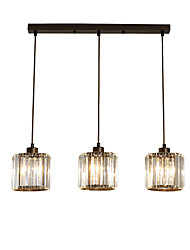 cheap -3-Light 14 cm Pendant Light Crystal Cluster Modern 110-120V / 220-240V