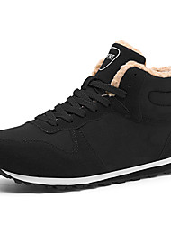 cheap -Men's Suede Shoes Suede Winter Sporty / Casual Boots Running Shoes / Walking Shoes Warm Black / Dark Blue / Outdoor