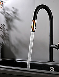 cheap -Kitchen faucet - Single Handle One Hole Painted Finishes Pull-out / ­Pull-down / Tall / ­High Arc Deck Mounted Contemporary Kitchen Taps