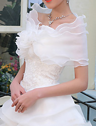 cheap -Sleeveless Shawls Organza / Cotton Wedding / Party / Evening Women's Wrap With Solid
