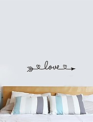 cheap -Decorative Wall Stickers - Plane Wall Stickers Characters / Hearts Indoor / Outdoor