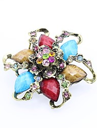 cheap -Women's Brooches Classic Flower Fashion Elegant Resin Brooch Jewelry Blue Red / Blue For Date Street
